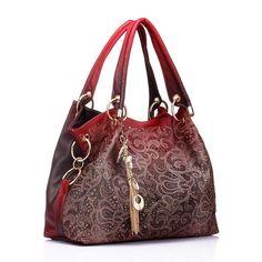 85dd750cd8 women bag hollow out ombre handbag floral print Realer brand women bag  hollow out ombre handbag floral print shoudler bags ladies pu leather tote  bag ...