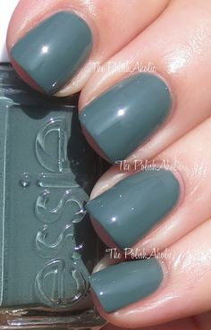 Essie Fall 2013 Collection Swatches - Vested Interest is a dusty green creme