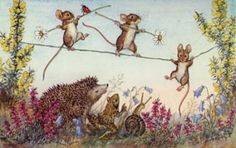 Another cute hedgehog postcard by Molly Brett