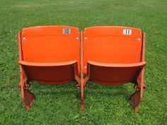 Authentic Chicago Bears Soldier Field Stadium Orange or Blue Seat/Chairs 1978