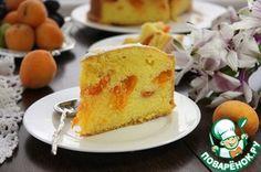 Тщательно взвешенный пирог.       Яйцо — 6 шт     Сахар коричневый (ТМ Мистраль)     Мука     Масло сливочное     Абрикос (10-12 штук)     Лимон (цедра 1 лимона) — 1 шт     Разрыхлитель теста — 1 ч. л.     Соль (щепотка)     Сахарная пудра (для посыпки)