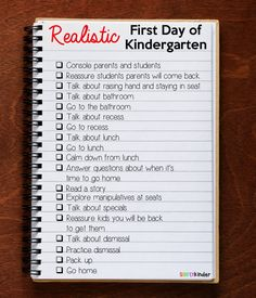 What to realistically plan on the first day of kindergarten!  Great article for teachers to plan the first day of school.