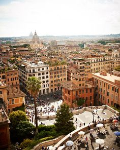 Rome | view from atop the Hassler Hotel