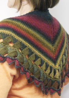 Ruth's Entrelac Butterfly Shawl
