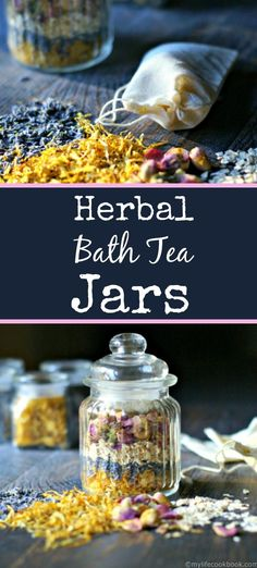 DIY: herbal bath tea jars