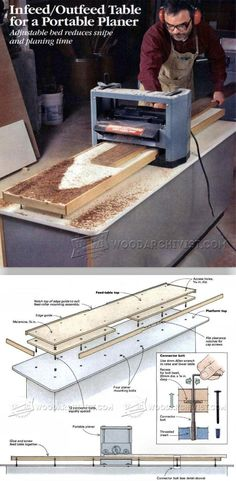 Portable Planer Infeed/Outfeed Table - Planer Tips, Jigs and Fixtures | WoodArchivist.com