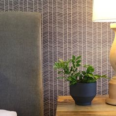 Herringbone Wallpaper combines a striking colour palette with seductive geometric to create a pattern that is sumptuously textured and distinctly luxurious. Available in 4 gorgeous colour ways, create an interior that is on trend and personal. Interior Wallpaper, Wallpaper Designs, Wallpaper Wallpapers, Room Wallpaper, Wallpaper Ideas, Decor Interior Design, Interior Styling, Interior Decorating, Herringbone Wallpaper