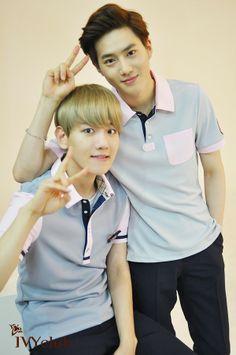 Baekhyun & Suho ♡  #exo