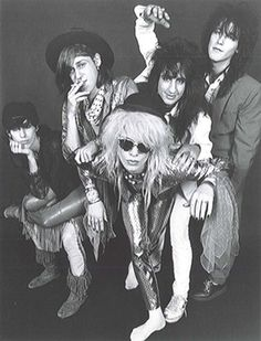 Hanoi Rocks' classic lineup: Sami Yaffa, left, Andy McCoy, Michael Monroe, Razzle and Nasty Suicide