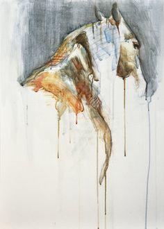 """Saatchi Online Artist Benedicte Gele; Painting, """"Equine Nude 1a"""" #art"""