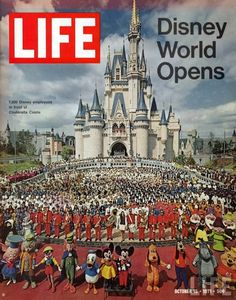 Walt Disney World Magic Kingdom opened October 1st, 1971, and LIFE magazine did a great issue on it - see cover above. Description from disneyandmore.blogspot.com.au. I searched for this on bing.com/images