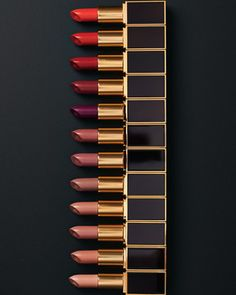 Tom Ford Limited Edition 12-Piece Lipstick Set on shopstyle.com | Tom Ford presents a wardrobe of twelve sensuous lip colors, showcased in a mahogany-colored box. A sumptuous gift for the discerning woman. Lipsticks include: Nude Vanille Blush Nude Sable Smoke Spanish Pink Pink Dusk Indian Rose Casablanca True Coral Wild Ginger Cherry Lush Crimson Noir Violete Fatale