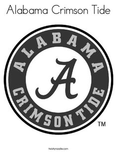 Alabama Crimson Tide Coloring Page - Twisty Noodle