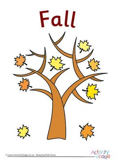 We know it is Autumn when the leaves turn and begin to fall off the trees. This simple Autumn poster shows just that. We have Spring, Summer and Winter in this poster set too. Beaver Scouts, Activity Village, Autumn Activities For Kids, Autumn Crafts, Kids Poster, Business For Kids, Autumn Trees, Kindergarten, Fall