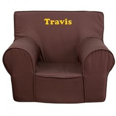 Flash Furniture Personalized Small Kids Chair In Brown Parsons Dining Chairs, Tufted Dining Chairs, Garden Lounge Chairs, Club Chairs, Personalized Kids Chair, Small Bean Bag Chairs, Black Metal Chairs, Tommy Bahama Beach Chair, Adirondack Chairs For Sale
