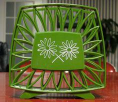Flower Power 1970's Green Napkin Holder by TwillaGirl on Etsy, $12.00