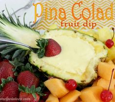 Piña Colada Fruit Dip Recipe Ingredients 1 oz) can crushed pineapple packed in juice, undrained 1 oz) package INSTANT coconut pudding cup milk cup sour cream Directions Mix all (Zesty Cheese Straws) Fruit Recipes, Appetizer Recipes, Appetizers, Cooking Recipes, Fruit Dips, Fruit Trays, Fruit Salad, Watermelon Fruit, Cooking Tips