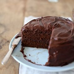 Mom's Chocolate Cake | This is a real old-fashioned American chocolate layer cake. It's very moist, very chocolatey, a snap to make and best baked the day before serving. Marcia Kiesel acquired the recipe from her friend Joyce Cole, who got it from her mother.