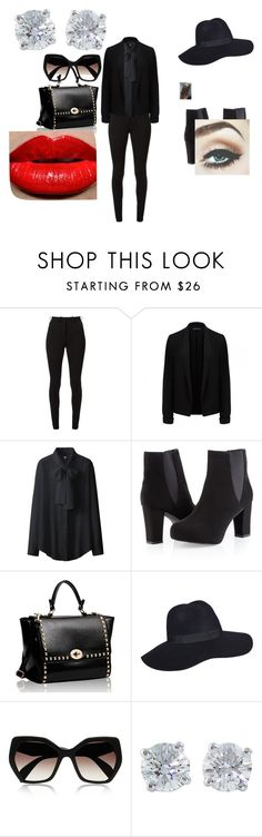 """loser - bigbang"" by reveeza ❤ liked on Polyvore featuring Victoria Beckham, Forever New, Uniqlo, Ashley Stewart, Prada and Tiffany & Co."