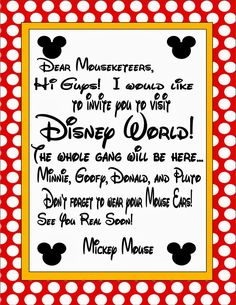 Send Your Kids A Letter From Mickey Mouse  Disney Vacations