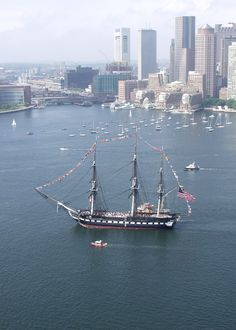 USS Constitution; Boston Harbor; The Oldest Commissioned Navy Vessel. National Maritime Day; May 22