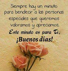 Buenos días ... Good morning