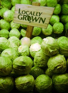 Brussels Sprouts at the Farmers Market by Child_of_Tree Fruit And Veg, Fresh Fruit, Farm Stand, Fruits And Vegetables, Farmers Market, Organic Gardening, Just In Case, Natural, Savoy Cabbage