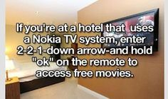 Hotel tv hack...