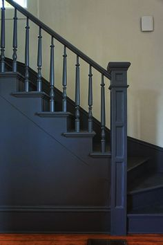 Victorian Architecture - Chic Design Investments: The Morrison House: A Modern Victorian Farmhouse Stair Spindles, Staircase Railings, Staircase Design, Stairways, Bannister, Basement Staircase, Iron Railings, Victorian Farmhouse, Modern Victorian