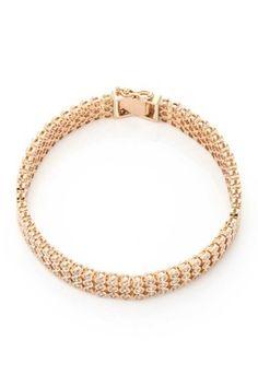 Vintage Estate Jewelry 18K Yellow Gold Diamond Bracelet - 3.32 ctw