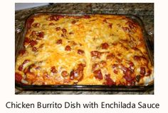 Burrito is a very popular food in Mexico. Typically, it consists of a filling and cheese wrapped in a flour tortilla. My recipe has chicken, onion, and green pepper in a spicy tomato sauce with Monterey Jack and cheddar cheese.