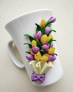 1 million+ Stunning Free Images to Use Anywhere Polymer Clay Ornaments, Polymer Clay Flowers, Polymer Clay Projects, Polymer Clay Crafts, Diy Clay, Clay Jar, Clay Mugs, Cute Mug, Mug Art
