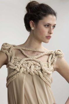 Sustainable Fashion - zero waste design using innovative draping methods with eco friendly fabrics // Daniel Silverstein
