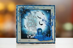 Fright Night from the Tattered Lace Halloween 2017 Collection Halloween Projects, Halloween 2017, Halloween Cards, Spooky Trees, Fright Night, Scrapbooking Ideas, Delicate, Presents, Scene