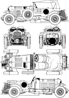 1930 Bentley 4 1/2 Litre Blower blueprint - would make an awesome CycleKart