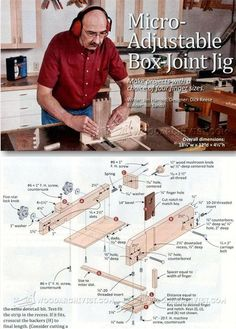 Micro Adjustable Box Joint Jig - Joinery Tips, Jigs and Techniques | WoodArchivist.com