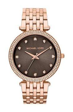 Michael Kors 'Darci' Crystal Bezel Bracelet Watch