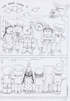 Circus Crafts, Carnival Crafts, Toddler Preschool, Preschool Activities, Halloween Girlande, Visual Perception Activities, Hidden Pictures, Art Plastique, Coloring Pages For Kids
