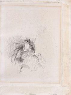 Honoré Daumier Marseille, 1808 - Valmondois, 1879 Le Malade imaginaire Crayon noir et lavis gris