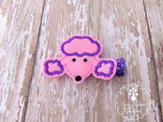 Pink Poodle Felt Hair Clip by PunkyPunkinCreations, $3.25