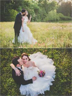 Bride and groom photo session in a field ~ Photo: Ama by Aisha Photography & Cinema