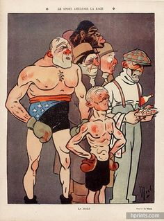 Mich 1910 Boxing Caricature