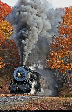 Net Photo: WMSR 734 Western Maryland Scenic Railroad Steam at Near Corriganville, Maryland by Appalachian Railfan Train Vacations, Old Steam Train, Railroad Photography, Train Art, Old Trains, Train Pictures, Train Engines, Train Journey, Steam Locomotive