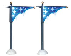 Lemax Village Collection Star Street Banner Set of 2 Battery Operated # 24511 $7.19