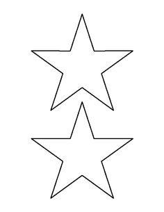 5 inch star pattern. Use the printable outline for crafts, creating stencils, scrapbooking, and more. Free PDF template to download and print at http://patternuniverse.com/download/5-inch-star-pattern/
