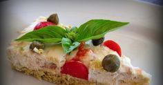 Golosando...serenamente!: Cheesecake salata al tonno e profumo di basilico