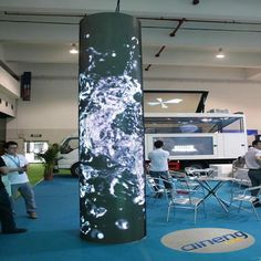 Check out this product on Alibaba.com App:Cylinder type LED display screen / Flexible LED display screen /Creative art LED display / Irregular LED display https://m.alibaba.com/EBFzme