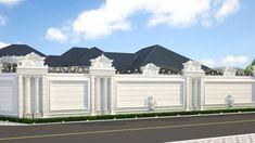 54 Best Ideas For Exterior Wall Design Facades House Wall Design, Home Gate Design, Fence Wall Design, Front Wall Design, Exterior Wall Design, House Outside Design, Village House Design, Unique House Design, Facade Design