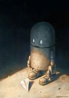 Inspiration   Lonely Robot Concept Art By Matt Dixon