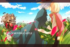 Tags: Fanart, Howl's Moving Castle, Studio Ghibli, Pixiv, Howl, Sophie Hatter, Natsuhara Dekopi